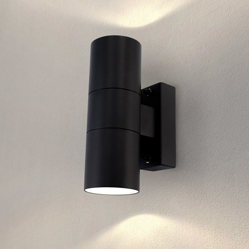 Ledvion LED Wandlamp Up & Down  Telesto - Zwart - GU10