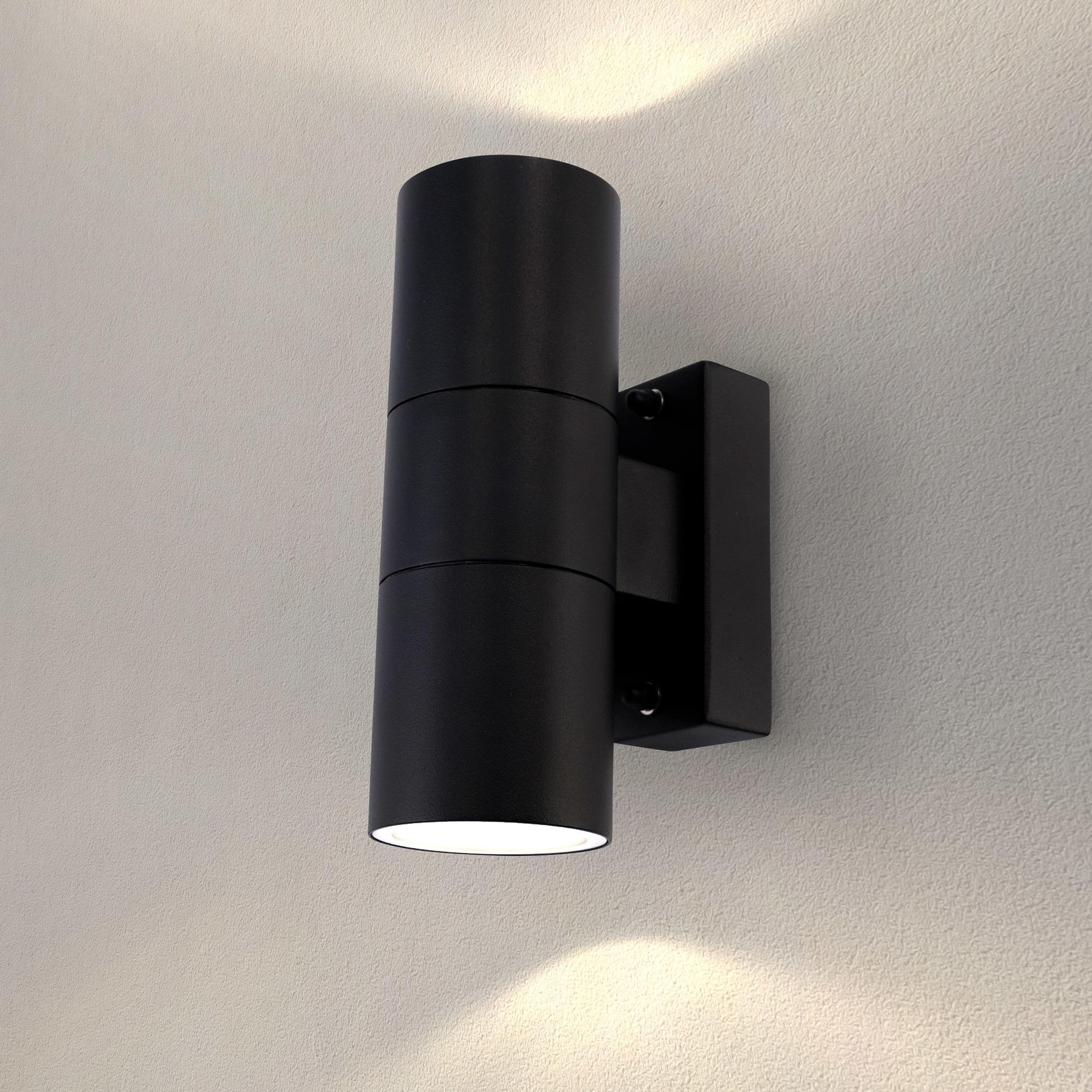 LED Wandlamp Up & Down  Telesto - Zwart - GU10
