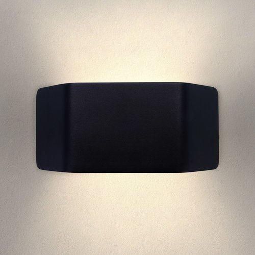 Ledvion LED Wandlamp Buiten Ash Zwart - 3000K - 9W - IP54