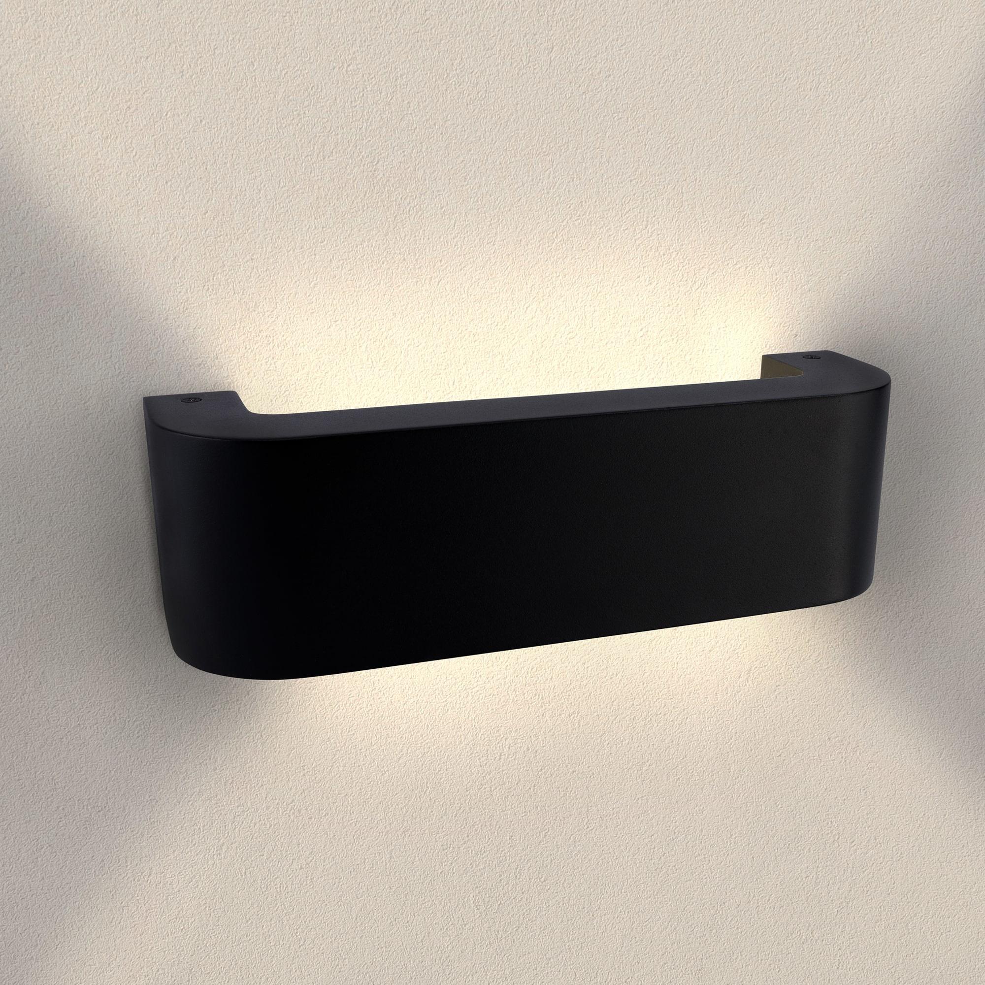 LED Wandlamp Buiten Norma Zwart - 3000K - 9W - IP54