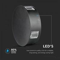 Lightexpert LED Wandlamp Buiten Zwart Rond - 4000K - 4W - IP65 - 440 Lumen