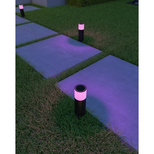 Calex Calex Slimme Staande Buitenlamp - RGB - IP44 - Smart paalverlichting