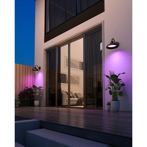 Calex Calex Slimme Klassieke Wandlamp - RGB - IP44 - Smart tuinverlichting