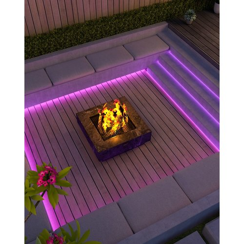 Calex Calex LED Strip RGB 5M + 3000K - IP44 - Smart tuinverlichting
