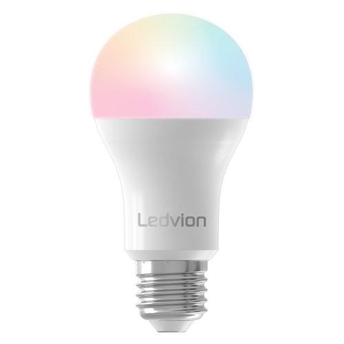 Ledvion Ledvion Smart RGB+CCT E27 LED Lamp - Wifi - Dimbaar - 8W