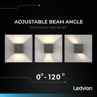 Lightexpert Dimbare LED Wandlamp Buiten - Antraciet - Tweezijdig - 3000K -  6W - IP65