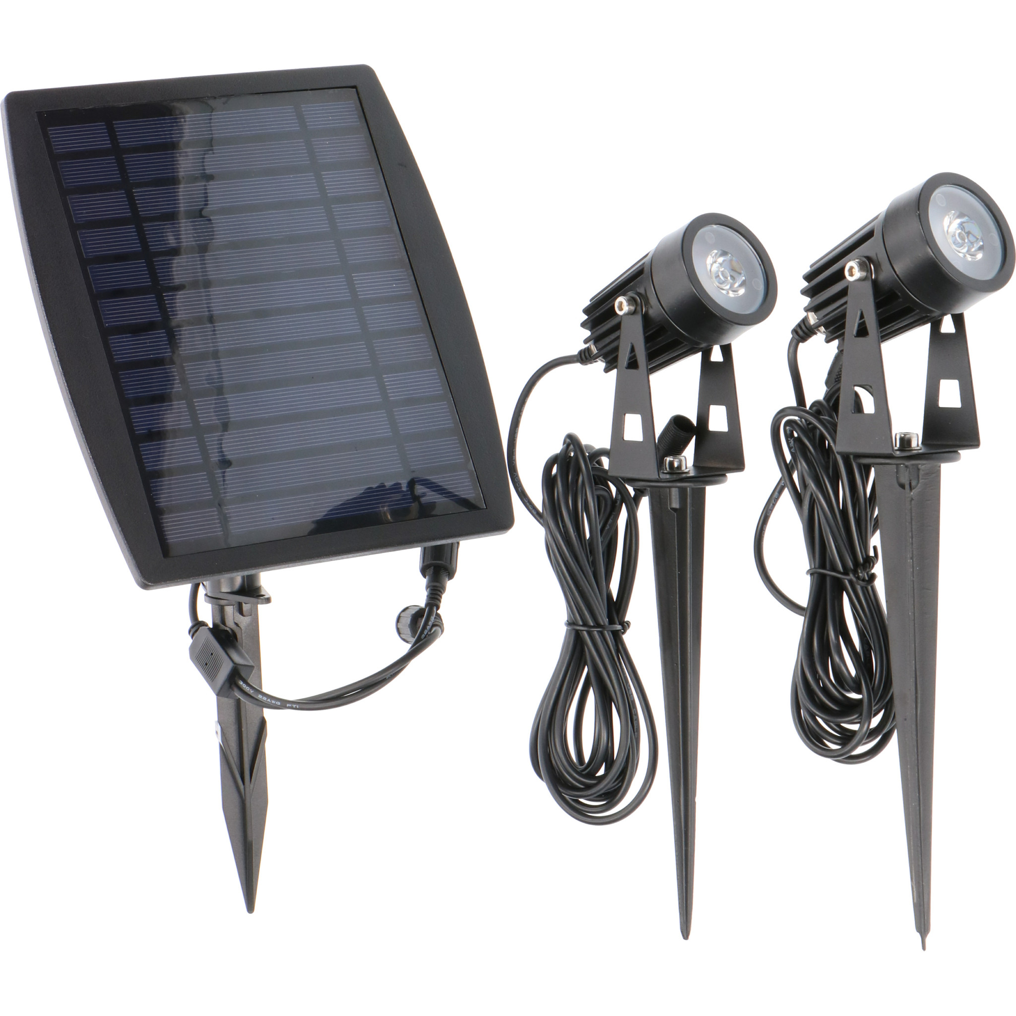 LED Prikspot Solar Dubbel - IP65 - Geïntegreerd LED - SALE: 20%