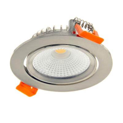 LED Inbouwspots RVS - 6W – IP44 – 2700K - Kantelbaar