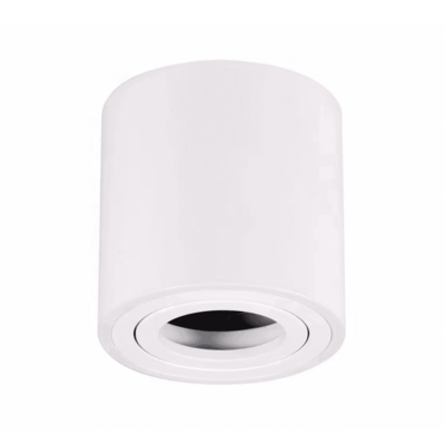LED Opbouwspot - Rond - Wit - Kantelbaar - IP20 - Excl. GU10 spot