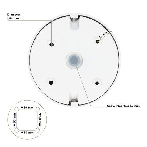 Lightexpert LED Opbouwspot  - Rond - Wit - Kantelbaar - Dimbaar - IP20