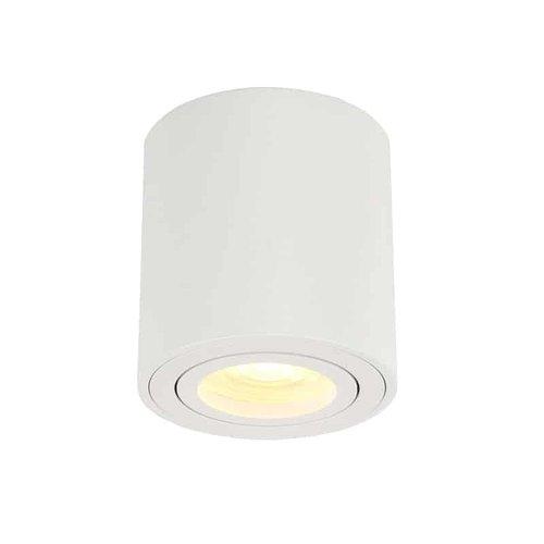 Lightexpert Dimbare LED Opbouwspot  - Rond - Wit - 6,5W - 3000K - Kantelbaar - IP20