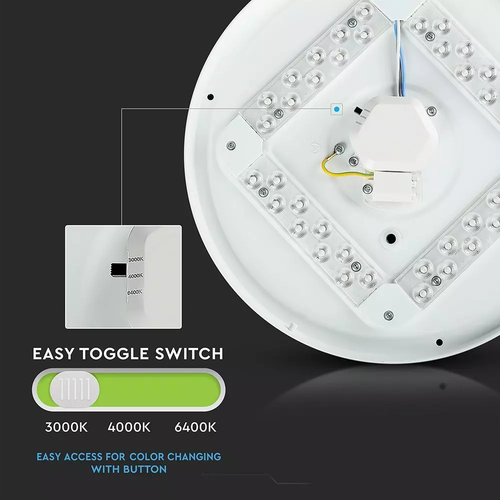 Lightexpert LED Plafondlamp - 12W - Lichtkleur instelbaar - IP20 - 1020 Lumen - Ø26 cm