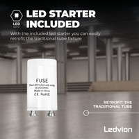 Ledvion LED TL Buis 120CM - 12W - 4000K - 1920 Lumen - High Efficiency