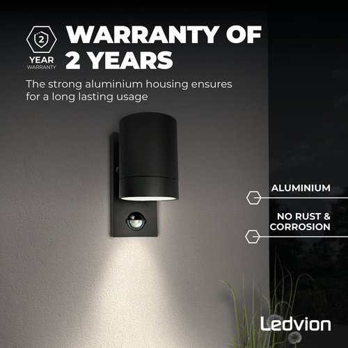 Ledvion Wandlamp buiten Colorado - Zwart - IP54
