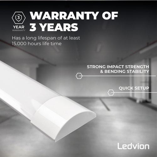 Ledvion LED Batten 150 cm - 50W -  6000 Lumen - 6500K