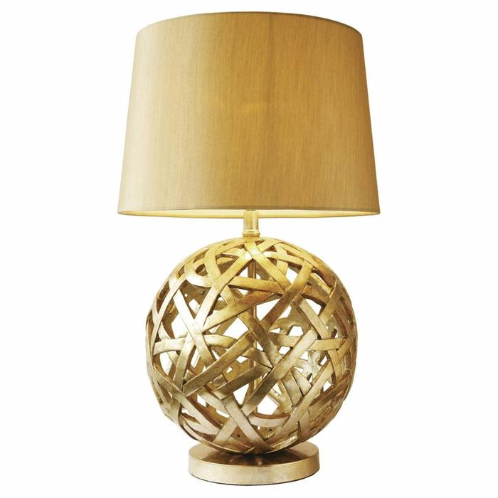 Antique Gold Globe Table Lamp