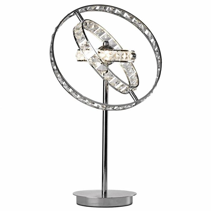 Crystal Rings Table Lamp - Polished Chrome