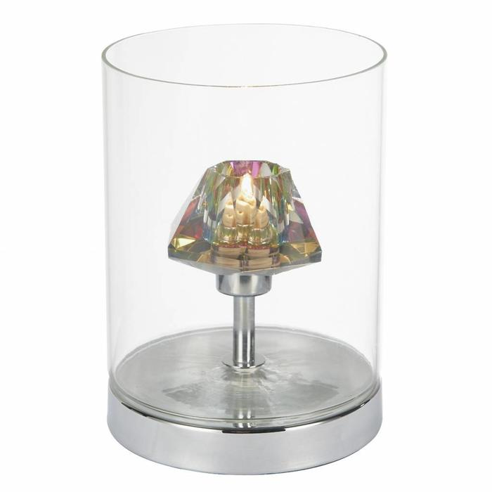 Dichroic - Coloured Glass Prism Touch Table Lamp