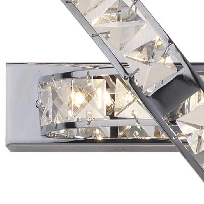 Crystal Wall Light - Polished Chrome