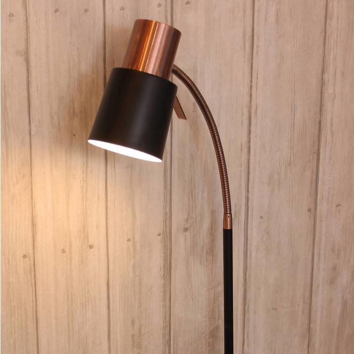 Copper/Black Floor Lamp