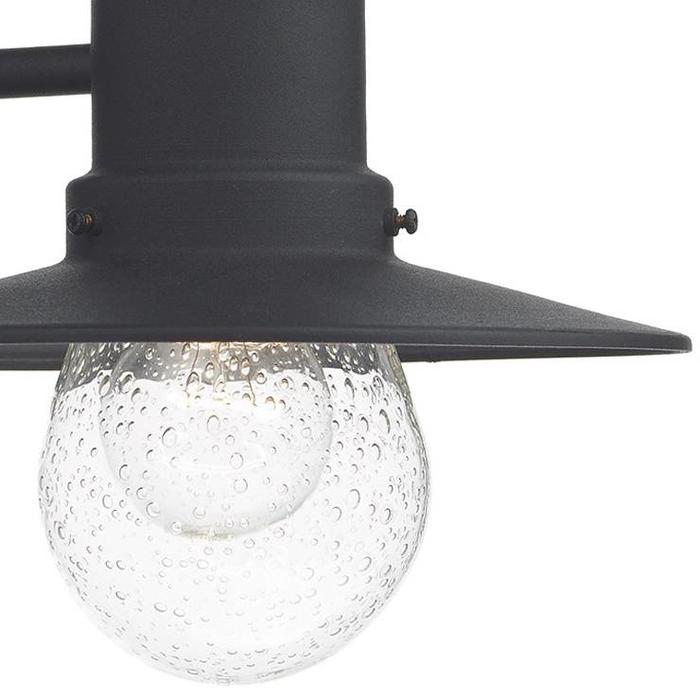 Outdoor Lantern Wall Light - Black