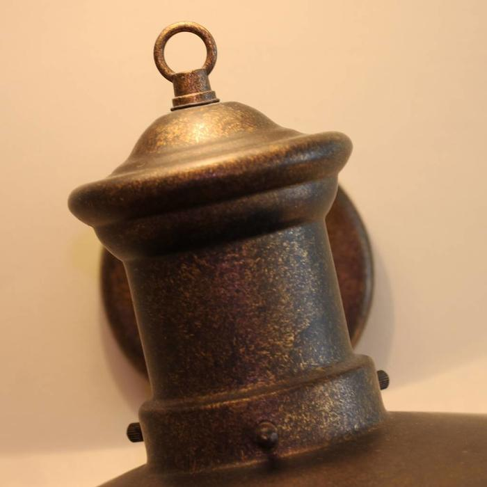 Outdoor Lantern Wall Light - Aged Bronze