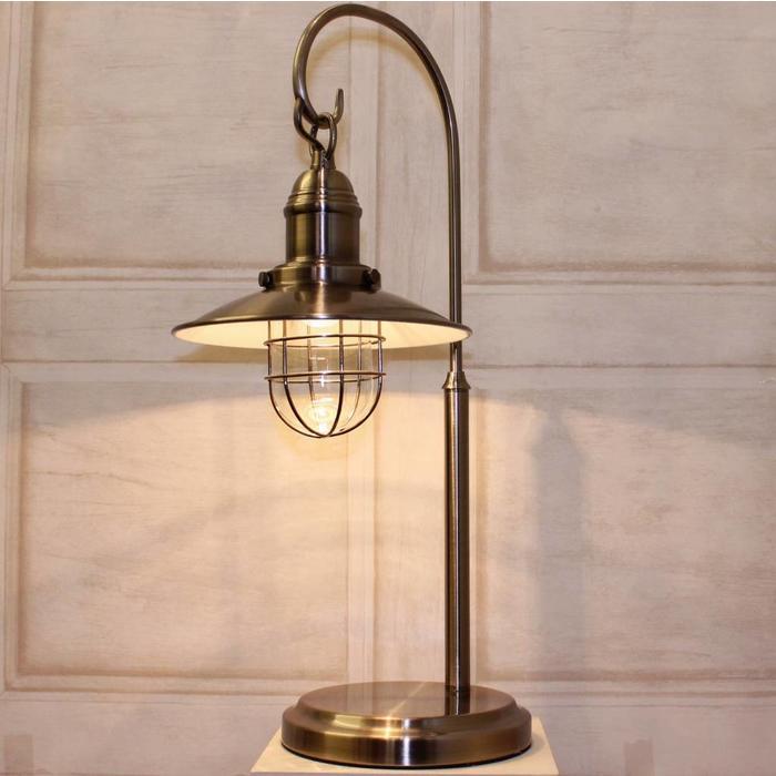 Fishermans Table Lamp - Antique Chrome