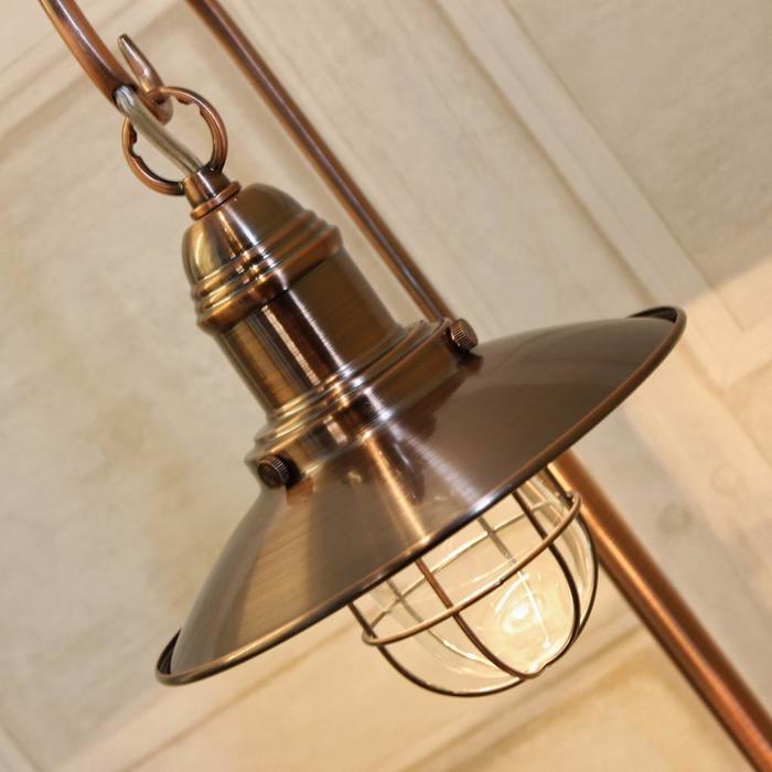 Fishermans Table Lamp - Antique Copper