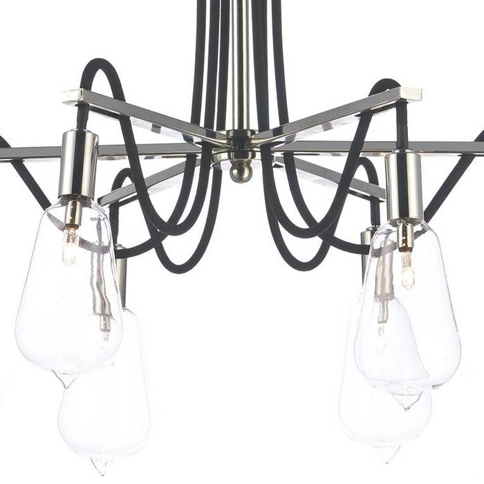 Industrial Cable Semi-Flush 6 Light - Polished Nickel