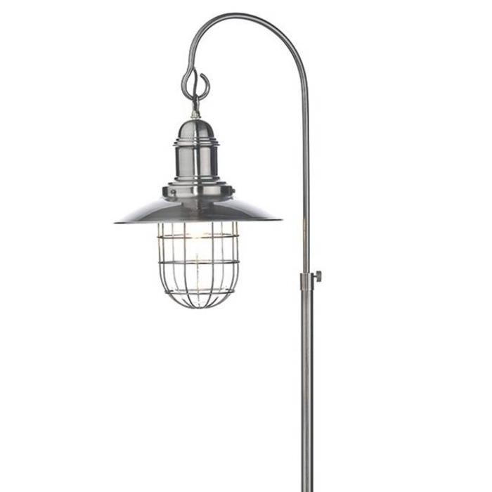 Fishermans Floor Lamp - Antique Chrome