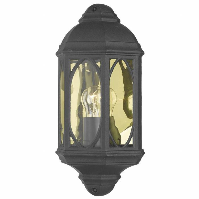 Outdoor Half Wall Lantern - Black