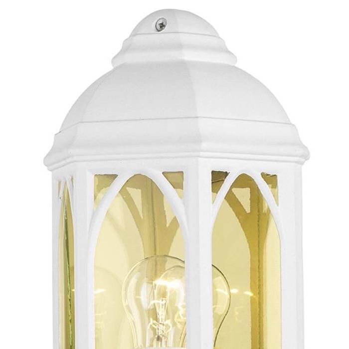 Outdoor Half Wall Lantern - White