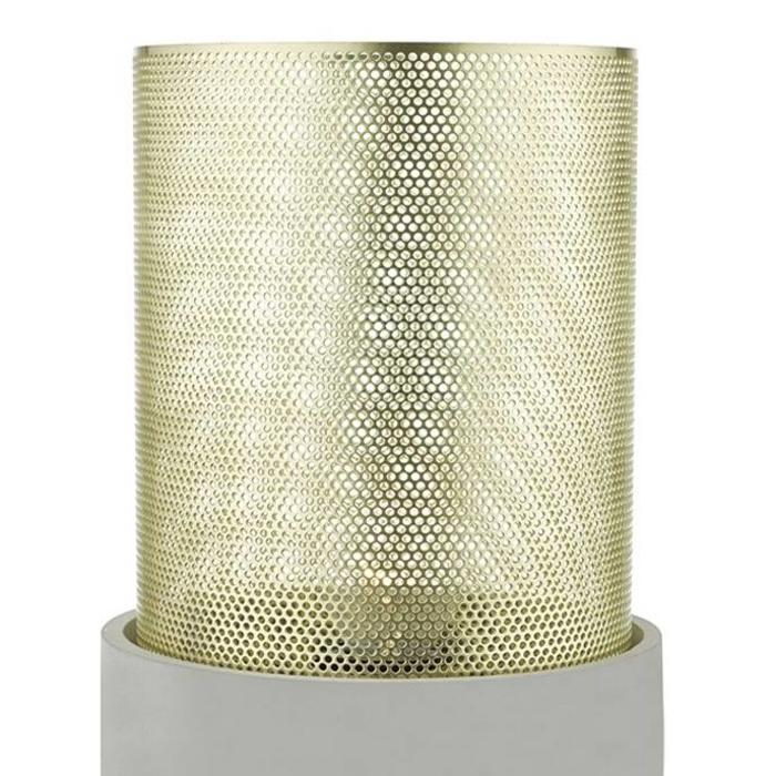 Brass and Concrete Table Lamp