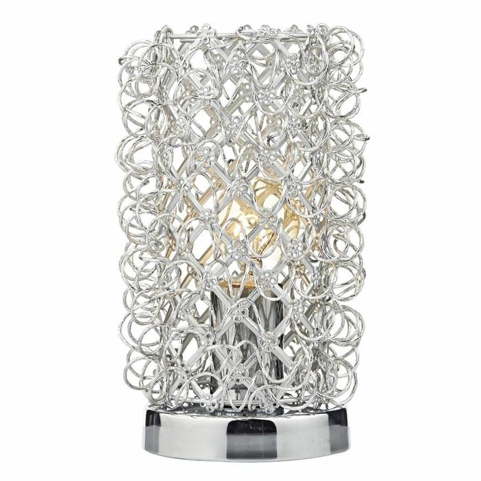 Wire Nest Touch Table Lamp - Polished Chrome