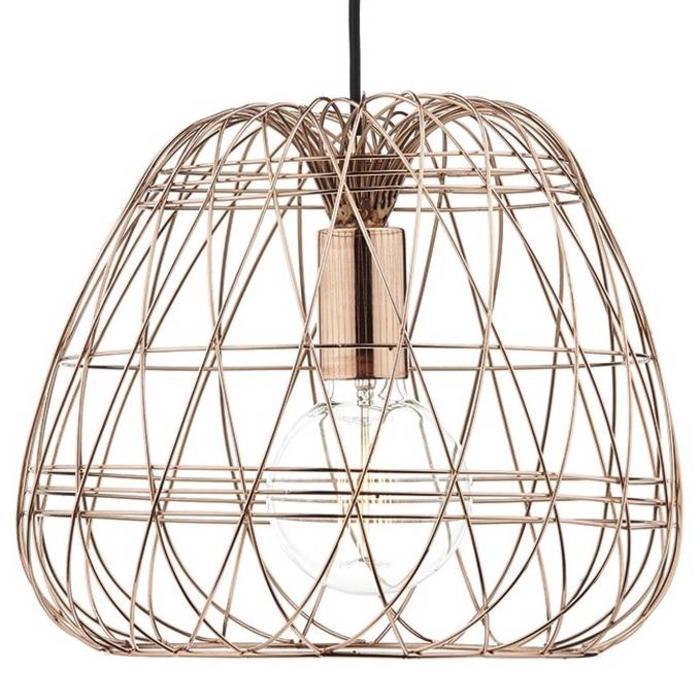 Copper Wire Cage Pendant