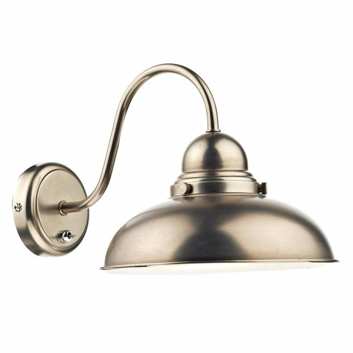 Retro Antique Chrome Wall Light