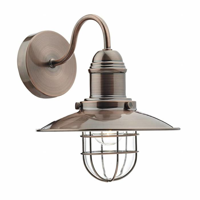 Fishermans Wall Light - Antique Copper