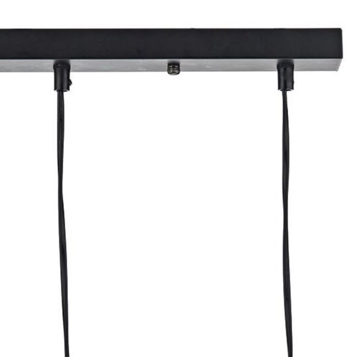 5 Light Cage Bar Pendant - Black