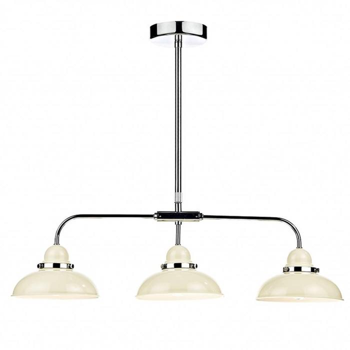 Retro Cream 3 Light Bar Pendant