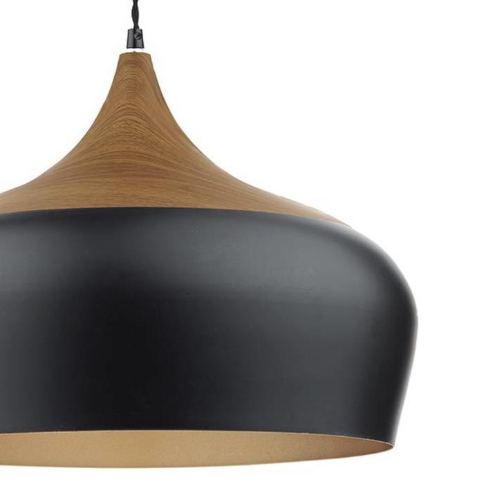 Oversized Matt Black Pendant