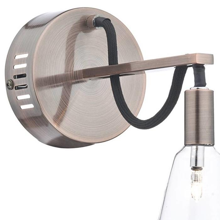 Industrial Cable Wall Light - Brushed Copper
