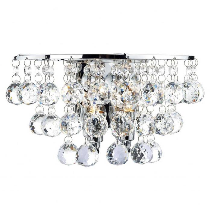 Crystal Waterfall Wall Light