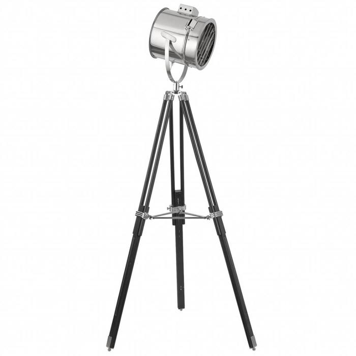 Studio Floor Lamp - Polished Chrome & Black