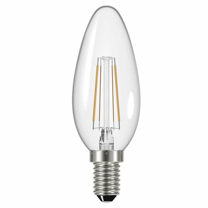 Clear Small Edison Screw Candle LED - 4W