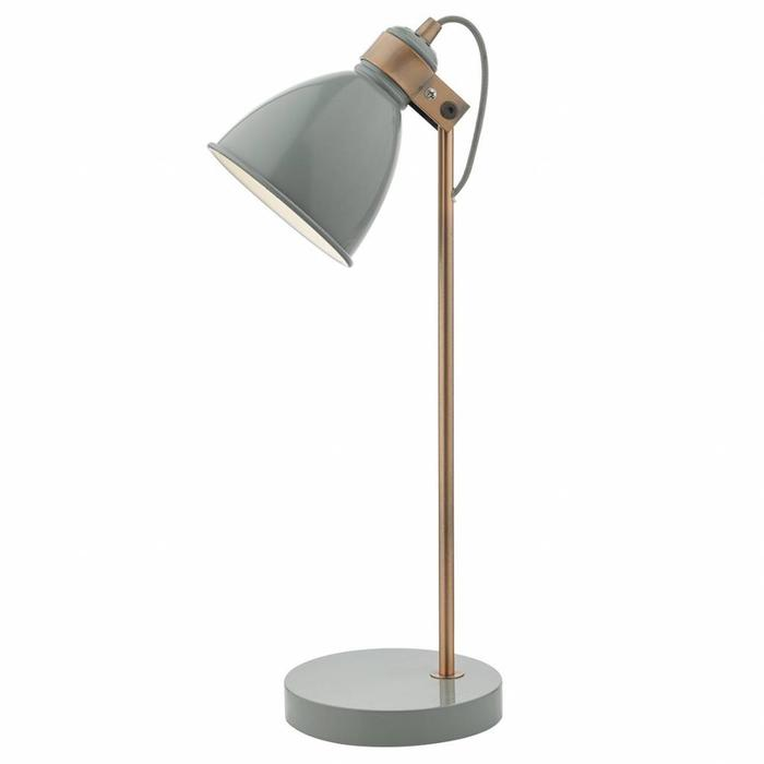 Nordic Grey & Copper Table Lamp