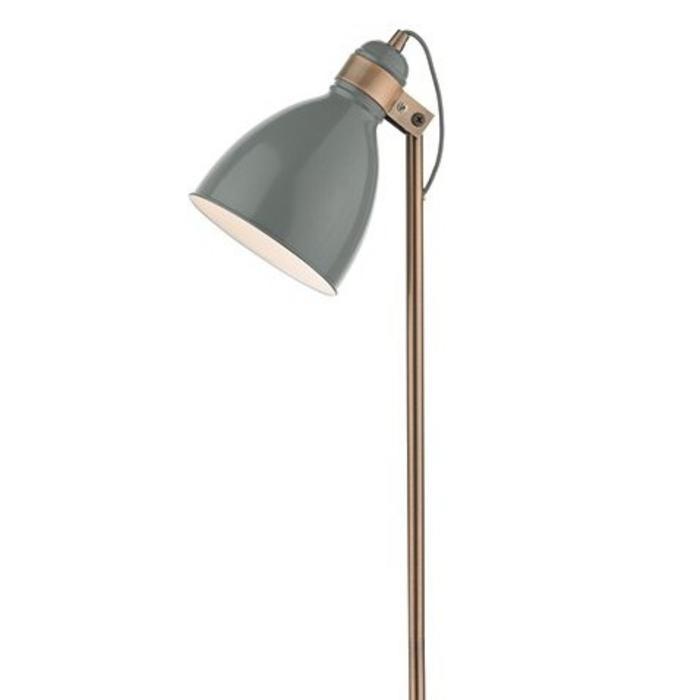 Nordic Grey & Copper Floor Lamp