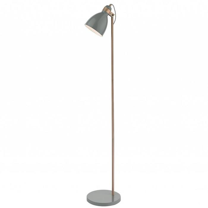Nordic Grey & Copper Floor Lamp