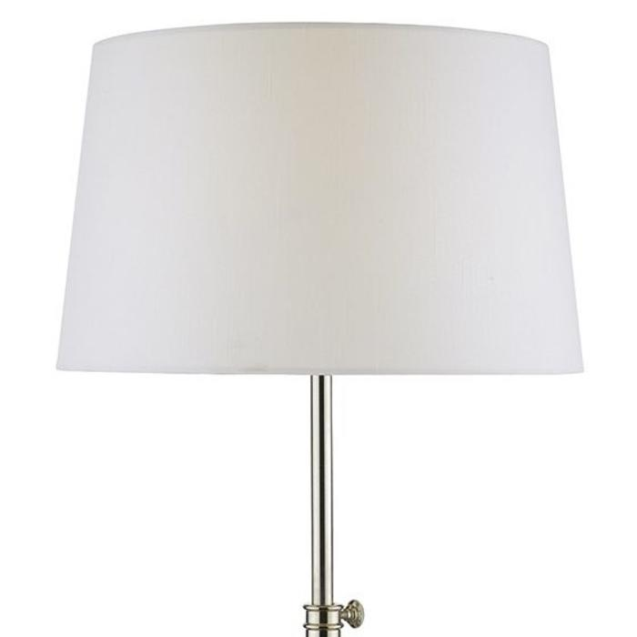 Luxe Tripod Table Lamp - Brushed Nickel & Polished Chrome