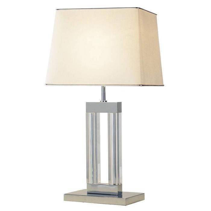 Art Deco Quartz Crystal Table Lamp