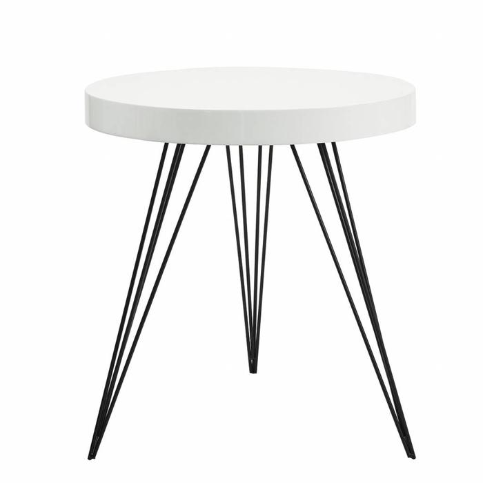 Scandi Side Table - White Gloss